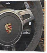 2015 Porche Boxster Gts Wheel Wood Print