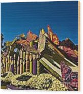 2015 Rose Parade Float With Butterflies 15rp044 Wood Print