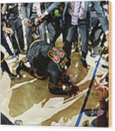 2016 Nba Finals - Game Seven Wood Print