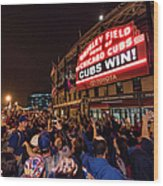 2016 World Series  - Chicago Cubs V Wood Print
