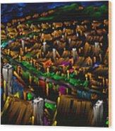 204 Rainbow Lane - The American Dream Wood Print