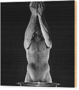 2048 The Offering A Black And White Male Nude  Wood Print