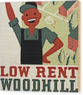 New Deal Wpa Poster Wood Print