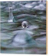 Australia - Cyclonic Raindrop Wood Print