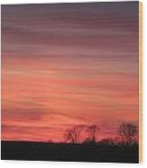 22 Dec 2012 Sunset Three Wood Print