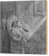 Dor� The Raven, 1882 Wood Print