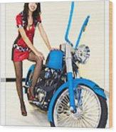 Models And Motorcycles Wood Print
