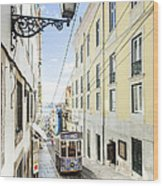 The Bica Funicular Wood Print