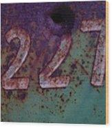 227 Wood Print