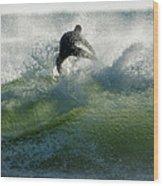 Gulf Coast Surfing Wood Print