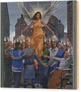 23. The Holy Spirit Arrives / From The Passion Of Christ - A Gay Vision Wood Print