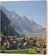 Alpine Village Wood Print