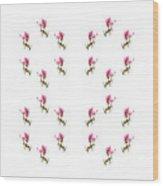 24 Dancing Pink Magnolias Square Wood Print