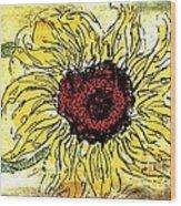 24 Kt Sunflower - Barbara Chichester Wood Print