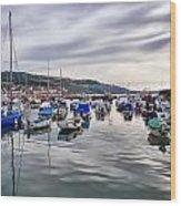 Lyme Regis Harbour Wood Print
