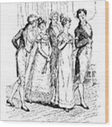 Scene From Pride And Prejudice By Jane Austen Wood Print