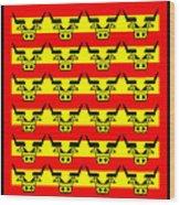 24 Spanish Bulls Wood Print