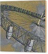 The London Eye Wood Print