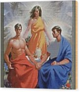 24. The Trinity / From The Passion Of Christ - A Gay Vision Wood Print