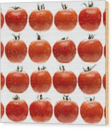 24 Tomatoes Wood Print
