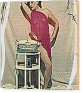 Typewriter Erotica Wood Print