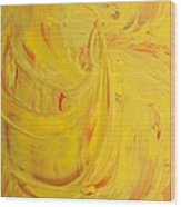 24k Yellow Gold Wood Print