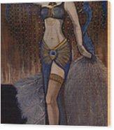 24x48 Peacock Dancer Wood Print