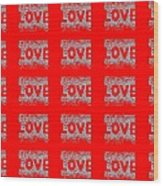 25 Affirmations Of Love In Red Wood Print