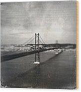25 De Abril Bridge II Wood Print by Marco Oliveira