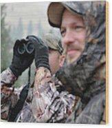 Hunting In Oregon Wood Print