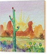 Southwestern Landscape Wood Print