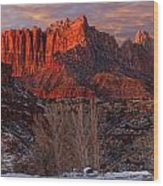 Zion National Park Utah Wood Print