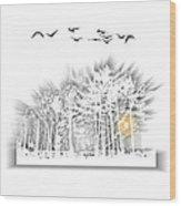 2503 Wood Print