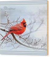 2559-1 Cardinal Wood Print