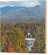 26 East And The Blueridge Panoramic Wood Print