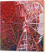 26 East Antenna Abstract 2 Wood Print