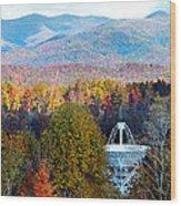 26 East Antenna And The Blueridge Wood Print