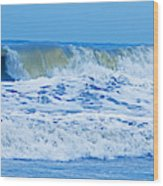 Hurricane Storm Waves Wood Print