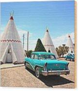 Route 66 Wigwam Motel Wood Print