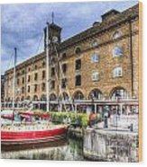 St Katherines Dock London Wood Print
