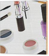 Still Life Of Beauty Products Wood Print