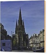View Of Episcopal Cathedral In Edinburgh Wood Print