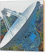 26 West Antenna Filtered Wood Print
