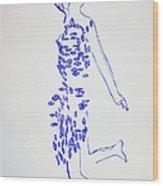 Dinka Dance - South Sudan Wood Print