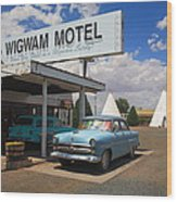 Route 66 - Wigwam Motel Wood Print