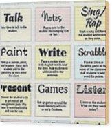 27 Ways To Greet Students Wood Print