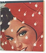 1950s Uk Home Chat Magazine Cover Wood Print