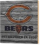 Chicago Bears Wood Print by Joe Hamilton