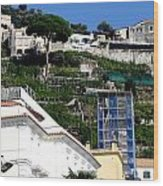 Views From The Amalfi Coast In Italy Wood Print