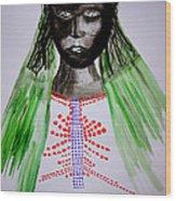 Dinka Bride  - South Sudan Wood Print